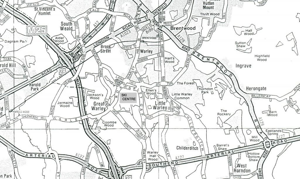brentwood ski map